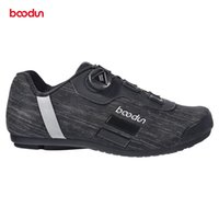 Ciclismo Calzado Boodun Shoes Reflectores para hombres No resbaladizo Respirador Sapatilha Ciclismo MTB Bicicleta de carretera sin equipo de bloqueo