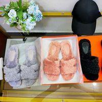 Im Herbst Sandalen trugen die neue Familie Frauen Mops and Home Mode Cashmere-Hausschuhe Shoe008 2-1