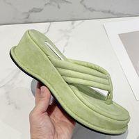 Летний кореначный каблук пляжная платформа тапочки дамы скользиты открытые пальцы мягкие подошвы дизайнерские сандалии женщины Y2K обувь