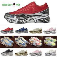 [Caja original + calcetines + etiqueta] Preferencial King Push Ozweego Ozweego Running Shoes 3 x RAF Simons Los zapatillas de zapatillas de zapatos de papá plateadas de plata y mujer de RAF Simons Tamaño 36-45