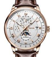 디자이너 럭셔리 브랜드 시계 Nes 자동 기계 가죽 tourbillon 스포츠 시계 캐주얼 비즈니스 Relojes Hombre 레트로 손목 8909