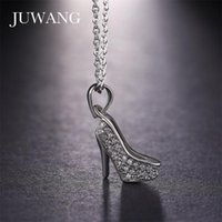 Silver Color Charming Micro Paving CZ High-heeled Shoes Pendant &Necklaces For Woman Chain Necklace Fashion Jewelry Gift Necklaces