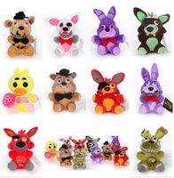 Плюшевые игрушки 15 см 25 см пять ночей на Freddy Fnaf Куклы Фаршированные золотые Fazbear Toxgle Foxy Bonnie Animal