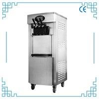 Ice Cream Making Machine Vertical Commercial Soft 3 Flavors Desktop Roll Maker Yogurt Vending For Sale