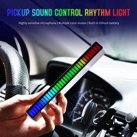 32LED الصوت المنشط بيك اب إيقاع ضوء سيارة الجو سطح المكتب الطيف الصوت rgb الملونة الصمام الموسيقى الصوت USB ضوء تعديل