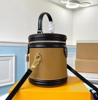 Designer- Mulheres couro clássico presbyopic bolsas bolsas crossbody balde saco alça superior e destacável s