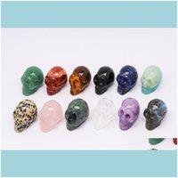 Rocher perles en vrac bijoux 1pc bijoux de minéraux naturels rose quartz skl cristal sculpture décoration Halloween et diy déc jlnmc 898 q2