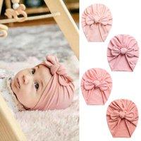 Caps & Hats Soft Accessories Ears Kids Girl Head Wrap Baby Beanies Turban Hat Knot Bonnet Born