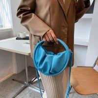 Evening Bags Fashion Fold Small Round Bag Women's Shoulder PU Leather Crossbody Luxury Designer Handbag And Purse Clutch Female Totes