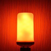 Lampen LED E27 Dynamische Flammeneffekt Glühlampe E12 E26 Multiple Mode Kreative Maislampe Dekorative Lichter für Bar El Party