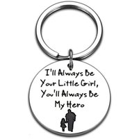 Keychains Fathers Day Gift Keychain Daddy Birthday Gifts From Daughter Christmas For Dad I Will Always Be Your Little Girl Key Chain