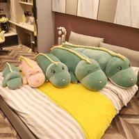 35-160cm Mignon Nouveau Dinosaure Peluche Toys Dessin animé Lézard Peluche Beaux Enfants Baby Baby Anniversaire Cadeau d'anniversaire