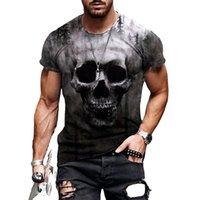 Squelette, crâne T-shirt T-shirt 3D de style homme graphique illusion d'optique à manches courtes fête de la rue punk punk gothique équipage cou
