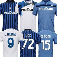 20 21 Atalanta BC Futebol Jerseys Muriel Gomez 2021 Duvan Gosens Camisa de Futebol Ilicic Pasalic Miranchek Lammers Homens Kit Kit uniforme