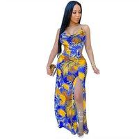 Onmrz x3644 dress sling sling neue digitaldruck sexy suspender split offene rückseite kreuz verband dress für frauen