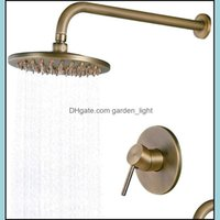 Bathroom Sets Faucets, Showers As Home & Gardenimpeu 8 Inch Waterfall Head Set Solid Brass Wall Mounted Concealed Rain Shower System,Antique