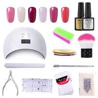 Elite99 8PCS GEL Nail Kit Professional Набор с круглосуточной лампой верхнего базового пальто Удалить мертвую кожу для ногтей Art Manicure Tool