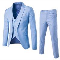 Trajes masculinos Blazer Slim Negocio Vestido formal Chaleco novio Hombre Traje Exquisito Conjunto de oficina de la oficina delgada Blazers