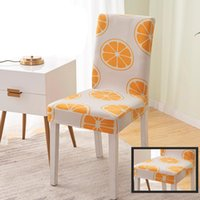 Cubiertas de silla Impresión de Spandex Dinisterio de comedor extraíble Extracto de asiento anti-sucio Estirar para la cubierta del banquete BWA7148