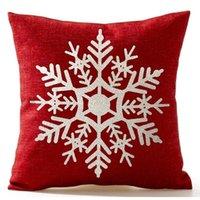 45 * 45 cm Noel Kar Tanesi Yastık Keten Kapakları Yeni Yıl Ev Kanepe Atmak Yastık Kılıfı Noel Dekorasyon Yastık Kapak Parti NHD6037