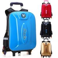 Съемные детские школьные сумки 6 колес лестницы дети мальчиков девочек рюкзаки тележка школьная сумка багажника сумка рюкзак mochila