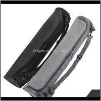 Sacs 7215cm Tapis portatif Toile étanche Ding Ding Sac de rangement Porte-Yoga Sport Sac à dos Noir Gris Couleur Dzwry XQXBA