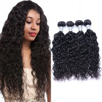 100% Human Hair Extensions Indian 3 or 4 Bundles Water Wave Natural Color Virgin Double Weft 100g pc