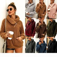 Women Winter Coats designer clothes Lapel Thick Sweater Womens tops Female Wool Sweatshirts womens jacket clothing fur hoodies pullover