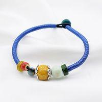 Charm Bracelets 1PC Ceramic Small Fresh European And American Literature Art Retro Style Woven Bracelet For Women