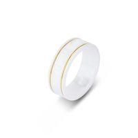 Keramikbandringe Schwarzweiß für Frauen Männer Schmuck Gold Silber Ring mit Kasten