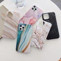 Casos del teléfono TPU de tejido de mármol mate para iPhone 12 11 Pro X XS MAX 7 8 Plus Funda de caja