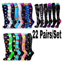 Men's Socks Compression Stockings For Sports Graduated 20-30 Mmhg Varicose Veins Men Women Knee Running