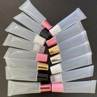 Tubi di lucidatura del labbro morbido riutilizzabile multicolore 8ml 10ml 15ml 18ml da 18ml trucco fai da te tubo del lipgloss vuoto di plastica del trucco