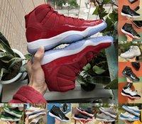 Высокое качество 11 мужчин женщин баскетбольные туфли с низкими плей-офф Somed Space Jam Jubilee 25-летие Мужские кроссовки Concord 45 Win Как 96 Cap и Thower Train