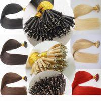 Grade 7A 1,0 g 100 g Lot Nano Ring Perlenschleife 100% Brasilianische Remy Human Hair Extensions Jungfrau 12-28inch