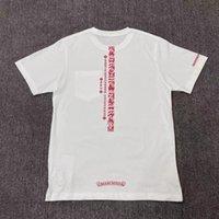 Mode Rücken ND 2021 CH Neue Print Rosa Sanskrit Brief USA CH Herren- und Damen Kurzarm T-Shir Fashion Mode-Art
