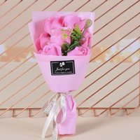 Creative bouquets of rose flower simulation soap party favor For Wedding Valentines Mothers Day Teachers Gift Decorative Flowers DDA5462