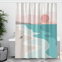 Shower Curtains Art Aesthetic Curtain Separate Waterproof Polyester Frosted Douchegordijn Accessories DE50YL
