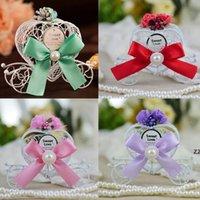 Heart-shaped metal carro branco carrinho de chocolate box meninas princesas festa de aniversário doce caixa favores casamento decoração xmas hwf9645