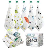 10pcs Baby Washcloths Soft Babys Muslin Washcloth Face Towels for Newborn with Sensitive Skin Shower Gift Registry 30*30cm