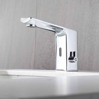 Touchless sensor faucets hand free taps deck mounted full brass mixer water cold & hot ac 220  dc battery saving power suitable for hotel, shopping mall and public area