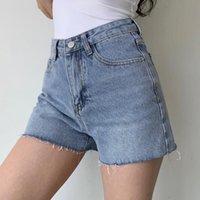 Женские шорты TVVVVIN тонкий тощий высокая талия джинсовые складки проблемные женские летние повседневная корейская сладкая девушка женщина 1TZO