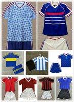 Kit Kit Retro Francescoli Cantona Zidane Henry Soccer Jersey Argentina 1986 83 98 99 90 92 Beckham Giggs Maradona Camisa de Fútbol