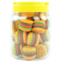 25pcs can Nonstick wax Containers silicone box 5ML hamburger bottle food grade jars tool storage jar oil holder for vaporizer vape
