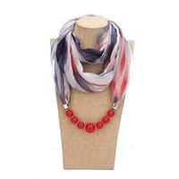 Pingente colares de outono e inverno resina grânulos lenço colar étnica moda escara colarinho bijoux jóias para mulheres