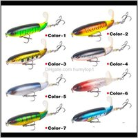 Baits Sports Outdoors 140Mm35G Top Water Whopper Plopper Lures Soft Rotating Tail Lure Artificial Hard Pencil Bait Fishing Tackle Drop