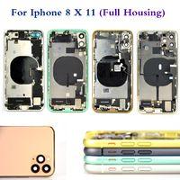 Para el iPhone 8 8G 8P 8PLUS x XS XR XSMAX 11 POR MAX CUBIERTE COMPLETO CUBIERTA DE LA CUBIERTA DE LA CUBIERTA TRASERA CON LA MEZCLA DE ZONO DE CABLE DE FLEX
