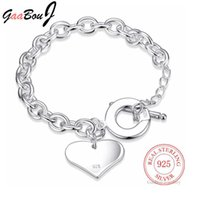 Diseñador de lujo pulsera venta 925 plata esterlina standy puño moda amor corazón cadena brazalete mujeres señoras niñas joyería regalo silber