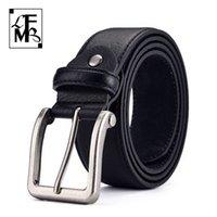 [Lfmb] homens koe pin gesp couro de alta qualidade moda luxo homens cintos