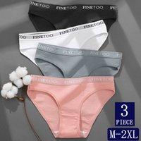 3Pcs Set Cotton Panties for Women Sexy Low Waist Briefs Female Plus Size M-2XL Underwear Set Girls Letter Belt Intimate Lingerie
